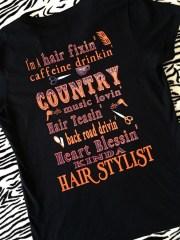 hair stylist shirt appalachiandiva