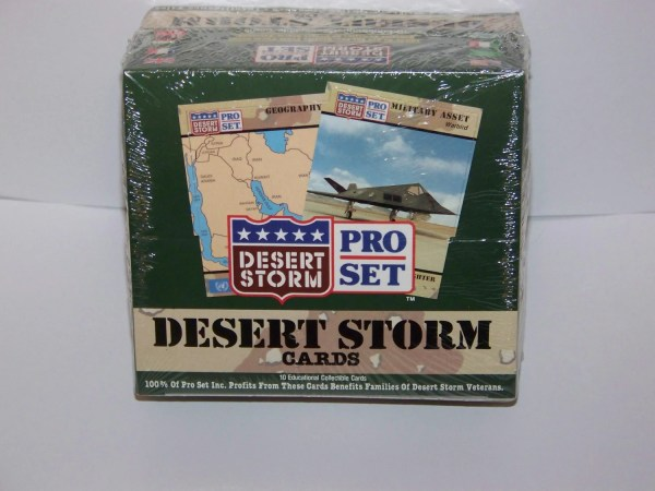 1991 Pro Set Desert Storm Sealed Box Trading Cards