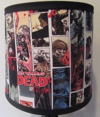 Walking Dead Comic Book Lamp Shade