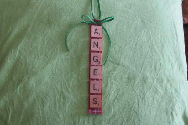 Angels Scrabble Tile Ornament