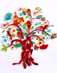 Tree of Life Unique Paper Quilled Wall Art for Home Decor