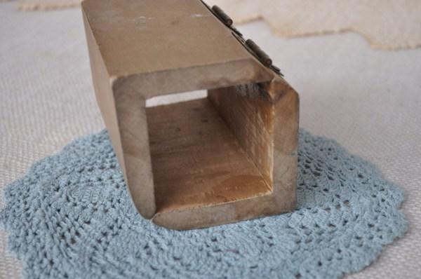 Reduced Antique Wooden Hinged Butter Cheese Mold