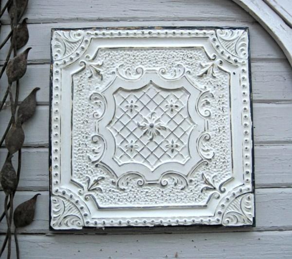 Antique Pressed Tin. 2'x2' Framed Tin Ceiling Tile