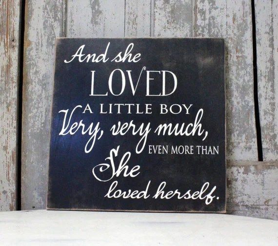 Download And She loved a Little Boy Sign Little Boy Nursery Sign
