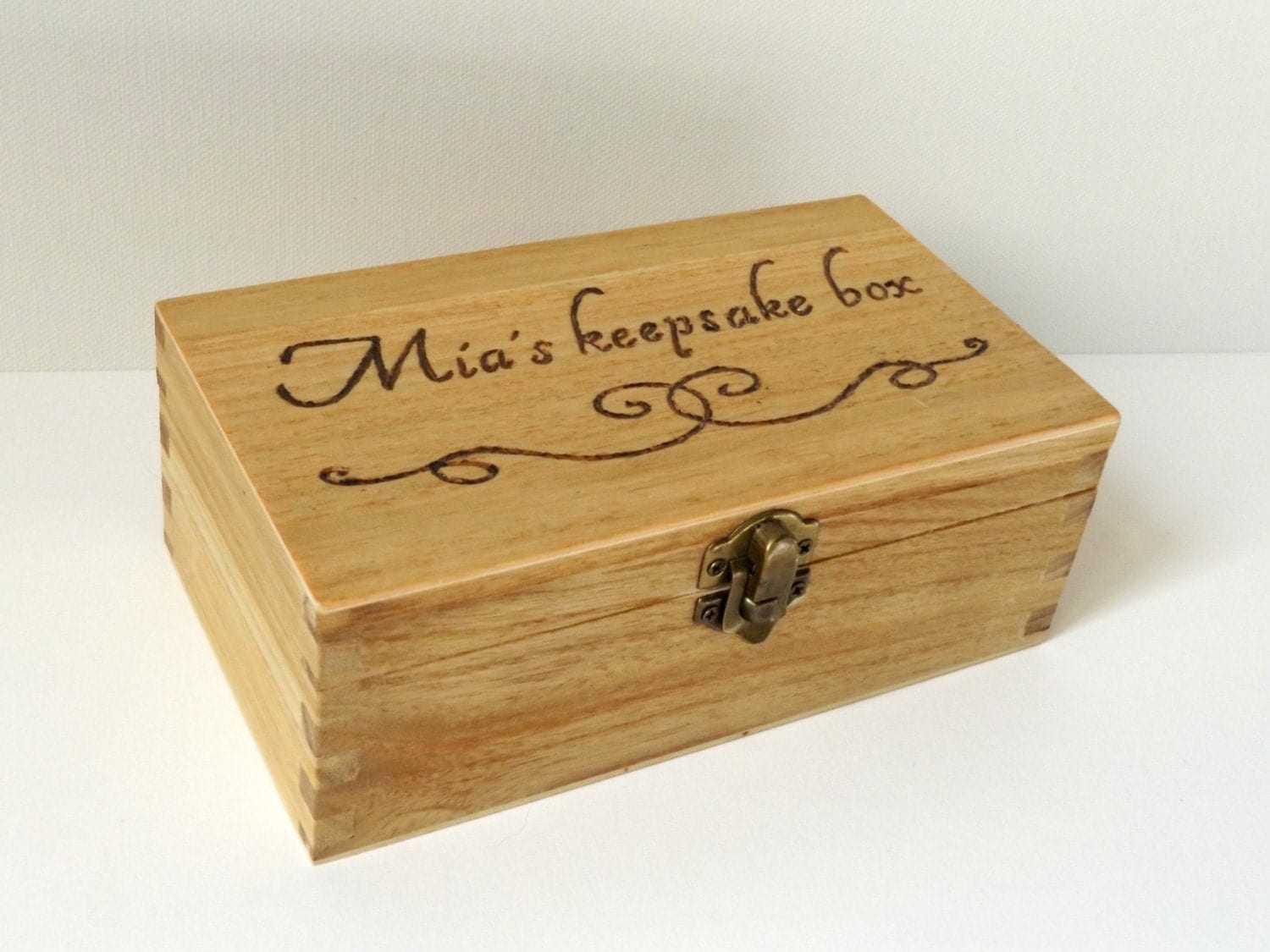 Personalised Engraved Wooden Box Wooden Keepsake By