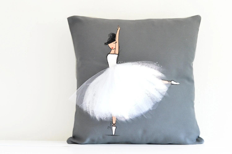 Ballerina Girls Room Decor Ballerina Decorative Pillow