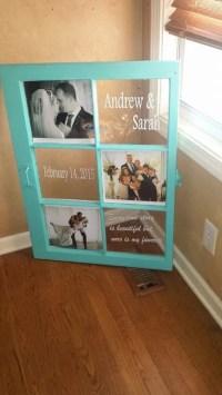 distressed wedding wood window wedding decor personalized