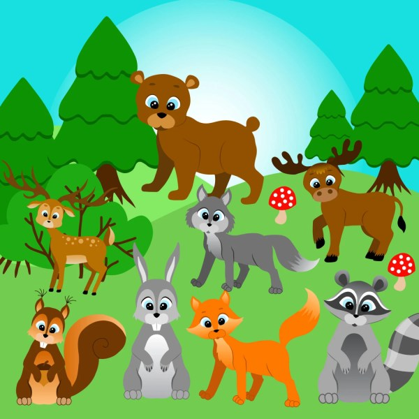 Forest Animals Clipart Clip Art Woodland