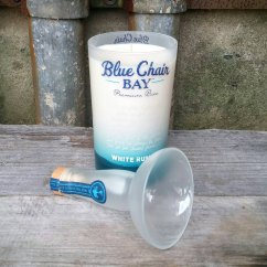 Kenny Chesney Blue Chair Bay Hats High Backed Cushions Rum Liquor Candle By