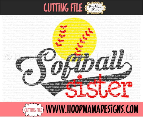 Softball Sister Svg Dxf Eps And Files Cutting Machines