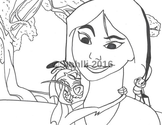 Items similar to Coloring Book Page, High Quality Print