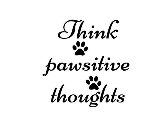 Think Pawsitive Thoughts CUT & Fold Book Folding Pattern
