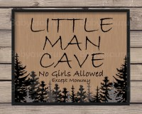 Rustic Wall Art Little Man Cave No Girls Allowed by ...