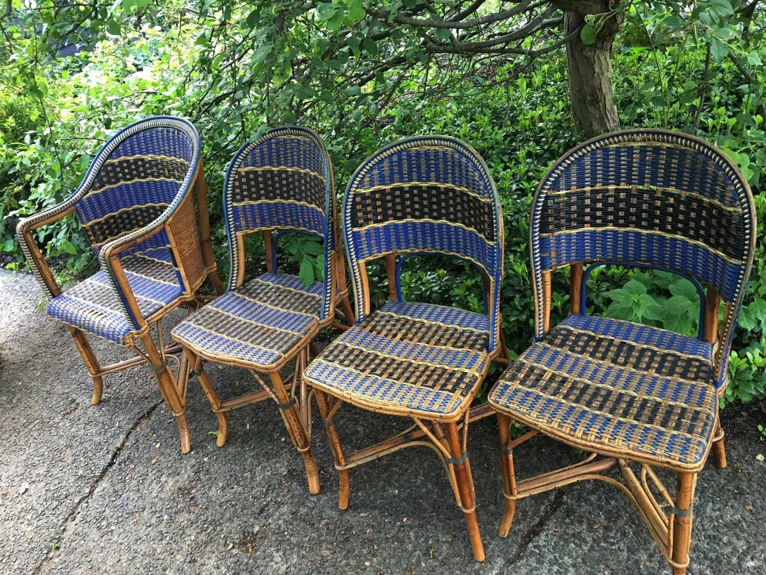 French Bistro Chair Antique French Bistro Rattan Chairs French Country Chairs