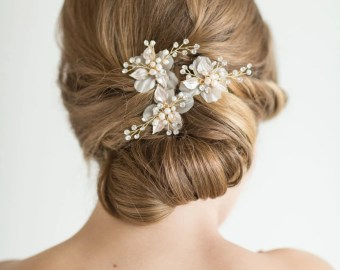 wedding hair pins etsy