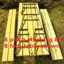 Outdoor Furniture Patio Table Metal Leg Kit Seperate Benches