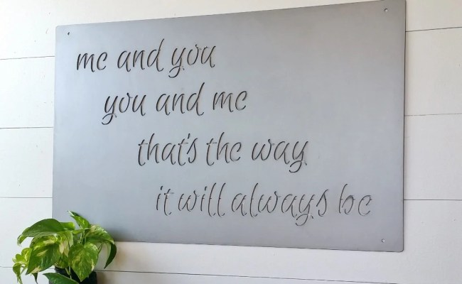 Large Metal Custom Quote Sign And Sayings By Langleymetalworks
