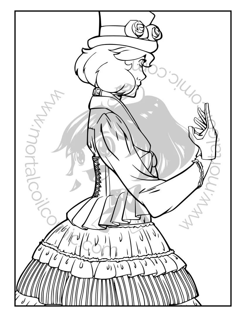 Adult Coloring Pages The Aristocrat Gothic Lolita Dress 2