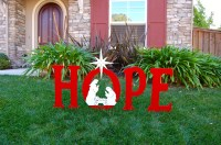 JOY With Trumpeting Angel Outdoor Christmas Holiday Yard Art