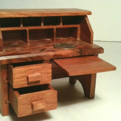 Handmade Wooden Chairs Hanging Yoga Chair Dollhouse Furniture Desk Drawers Pull Out