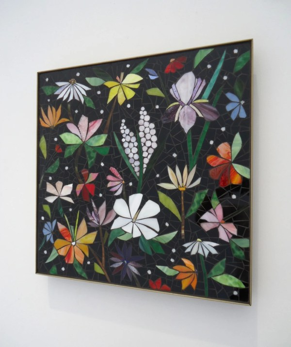 Glass Mosaic Wall Art Panel Hand-cut Stained