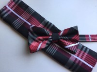 Black and Red Bow Tie Set