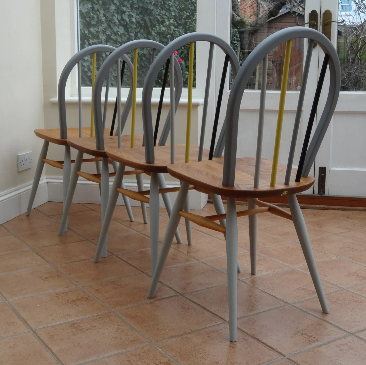 diy painted windsor chairs zero gravity chair big lots restored and ercol