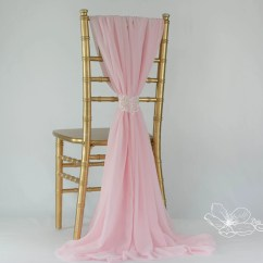 Pale Pink Chair Pantone Folding New Chiffon Cover Sash Wedding Decor
