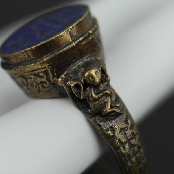 Antique Solid Bronze Ring Wax Seal Stamp Konstantinantiques