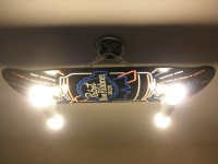 Custom Hanging Pabst Blue Ribbon Beer Skateboard Light Fixture