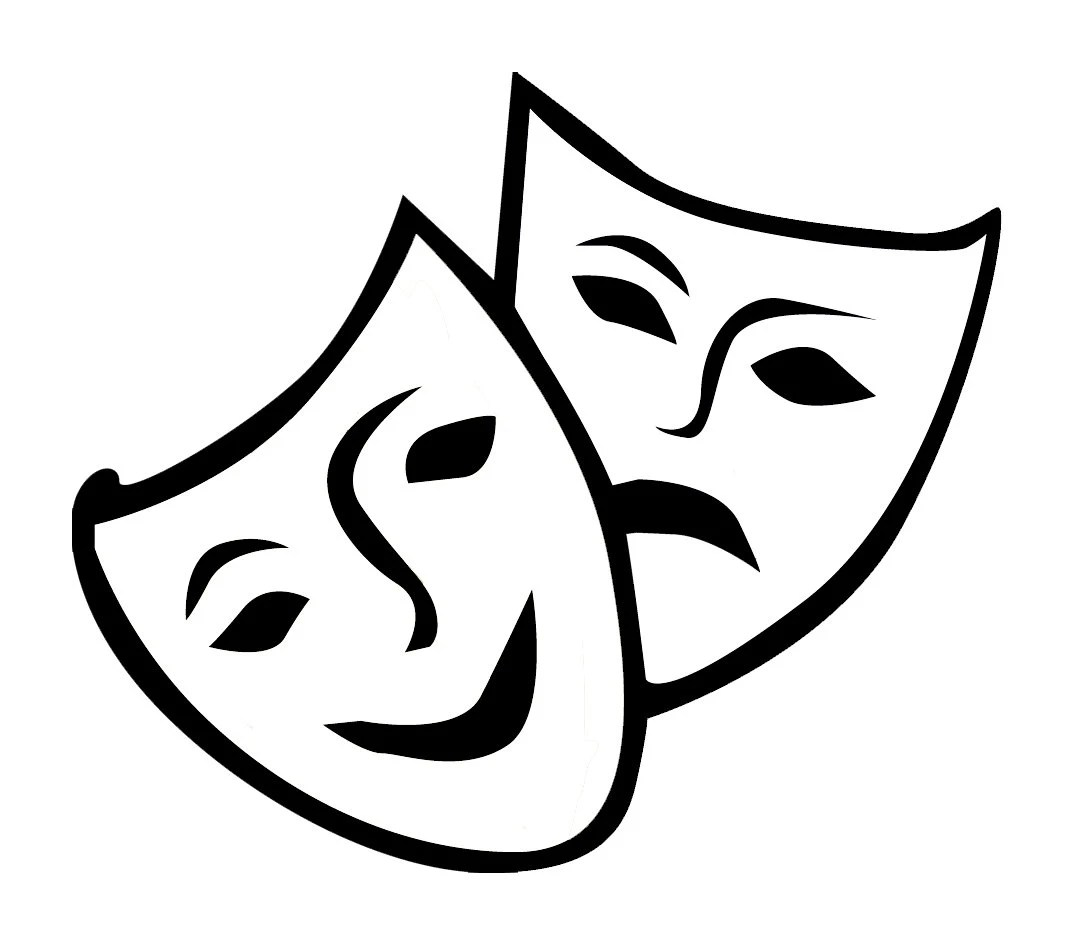 Drama Mask Decal Happy and Sad Theater Masks Di Cut Decal