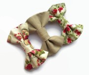 fabric hair bows vintage style