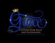 glitter bling hair extensions logo