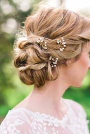 set of 3 crystal hair pins bridal
