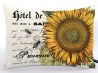 French Sunflower pillow cover Provence bees script 12x16 natural canvas pillow country cottage chic cushion gift #232 FlossieandRay