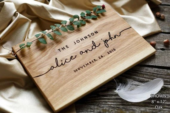 Wedding Gift Personalized Cutting Board Gift By
