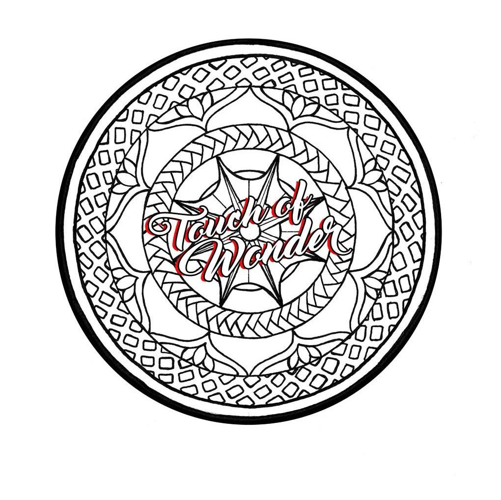 Mandala Zentangle Base & Coloring Page by TouchofWonderArt