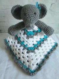 Ellie the Elephant Crochet Lovey Blanket Crochet Baby