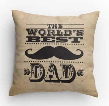 The Worlds Best Dad Pillow by KarrisCrafts on Etsy