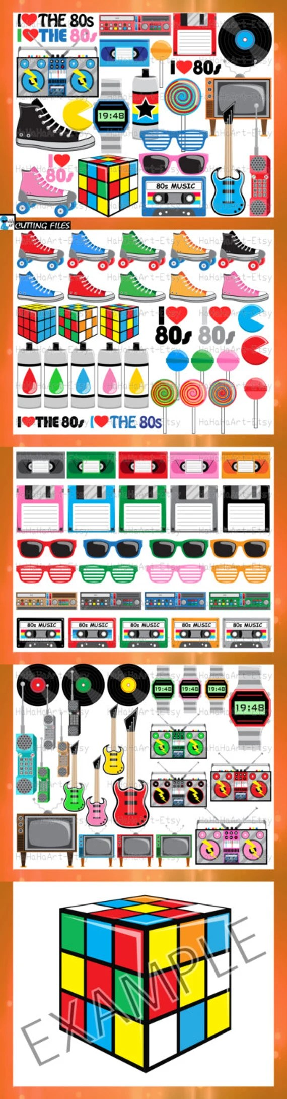 Download 1980s I Love The 80s v2 Cutting Files Svg Png Jpg Eps