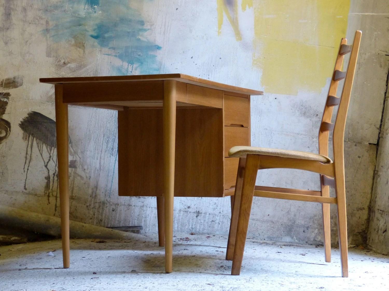 Bureau en ch ne vintage style scandinave haute juice - Bureau style vintage ...
