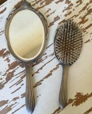 vintage sterling hair brush