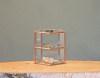 Small Geometric Glass Display Case Jewelry Display