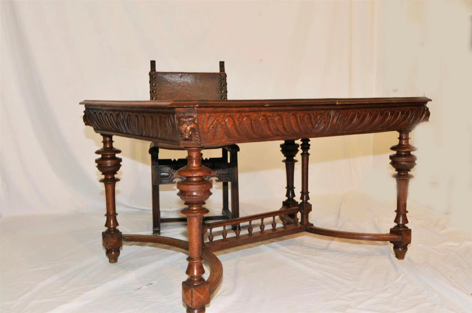 old office chair and table x hammock desk antique french library lions heads