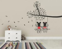 Mickey Mouse & Minnie Tree Swing Wall Sticker Wall Art Decal