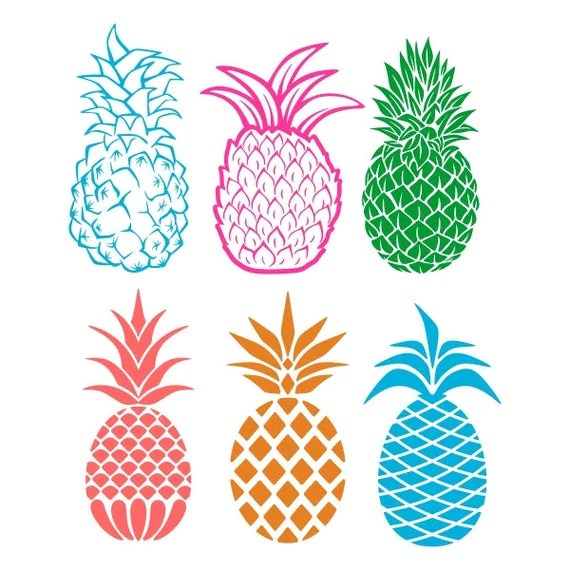 Download Pineapple Cuttable Designs SVG DXF EPS use with Silhouette