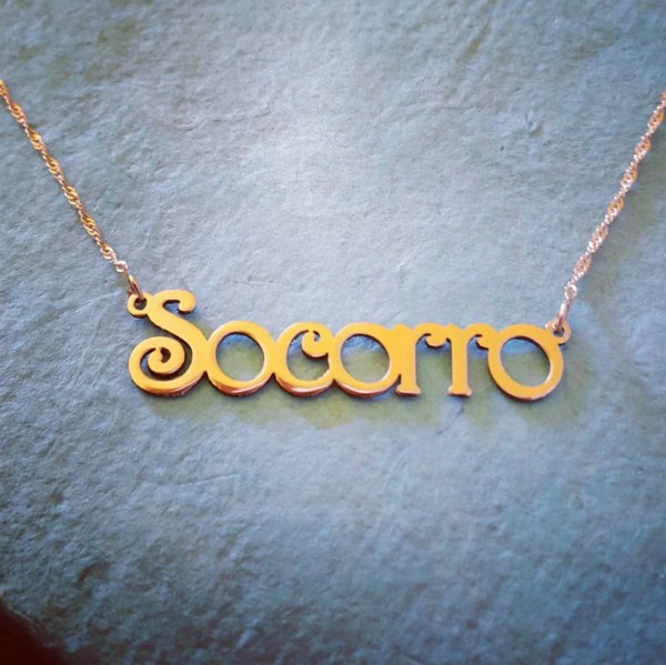 Gold Necklace 14k Solid Personalized