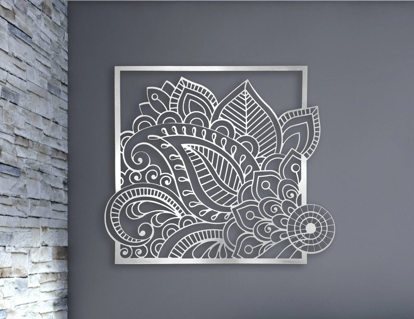 Laser Cut Metal Decorative Wall Art Panel Sculpture for Home