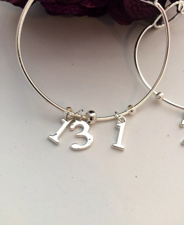 Marathon Wire Bracelet Running Jewelry 13.1