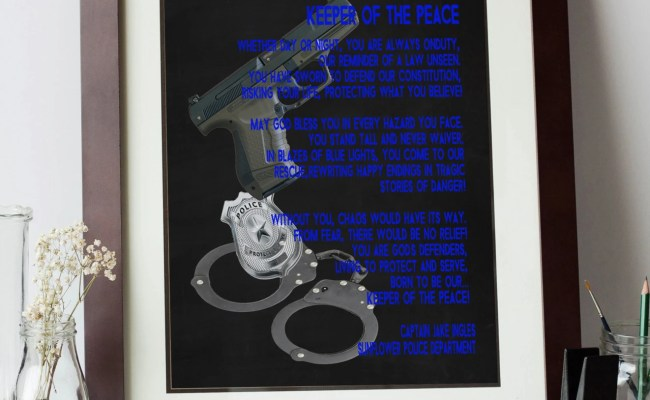 Printable Personalized Police Officer Gift Police Prayer Law